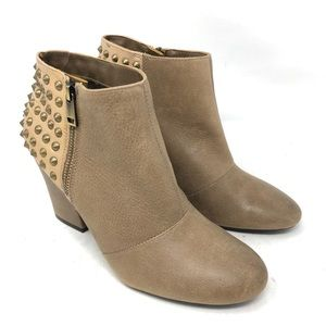 NEW Jessica Simpson Casino Taupe Stud Booties